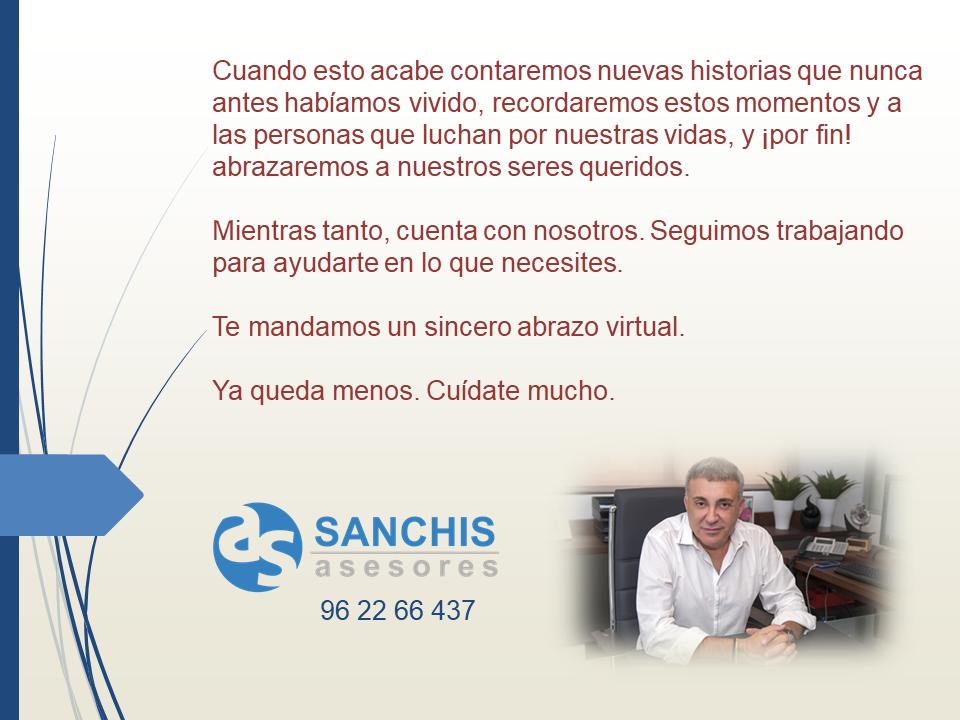 Mensaje de Sanchis asesores