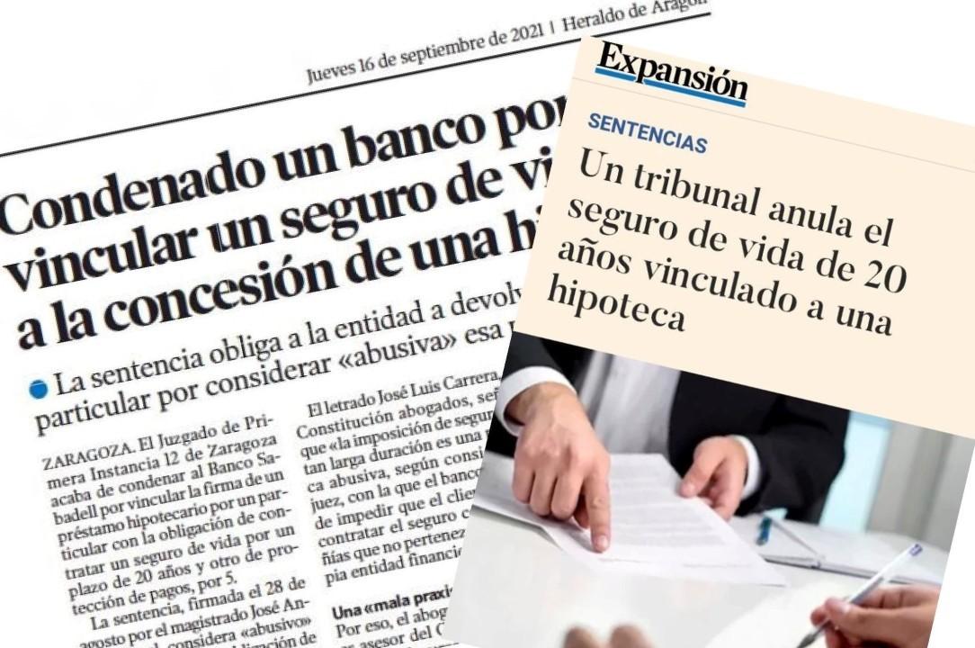 Sentencia sobre seguros de los bancos Sanchis asesores
